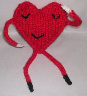 knitted heart knittinggalore
