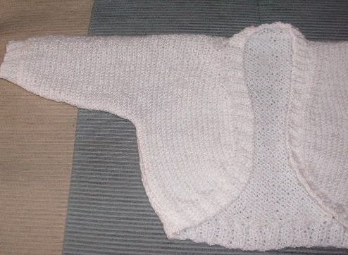 Simple Bolero Knitting Pattern : Easy Knit Baby Shrug knittinggalore
